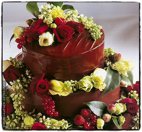 Sachertorte Wedding Cake
