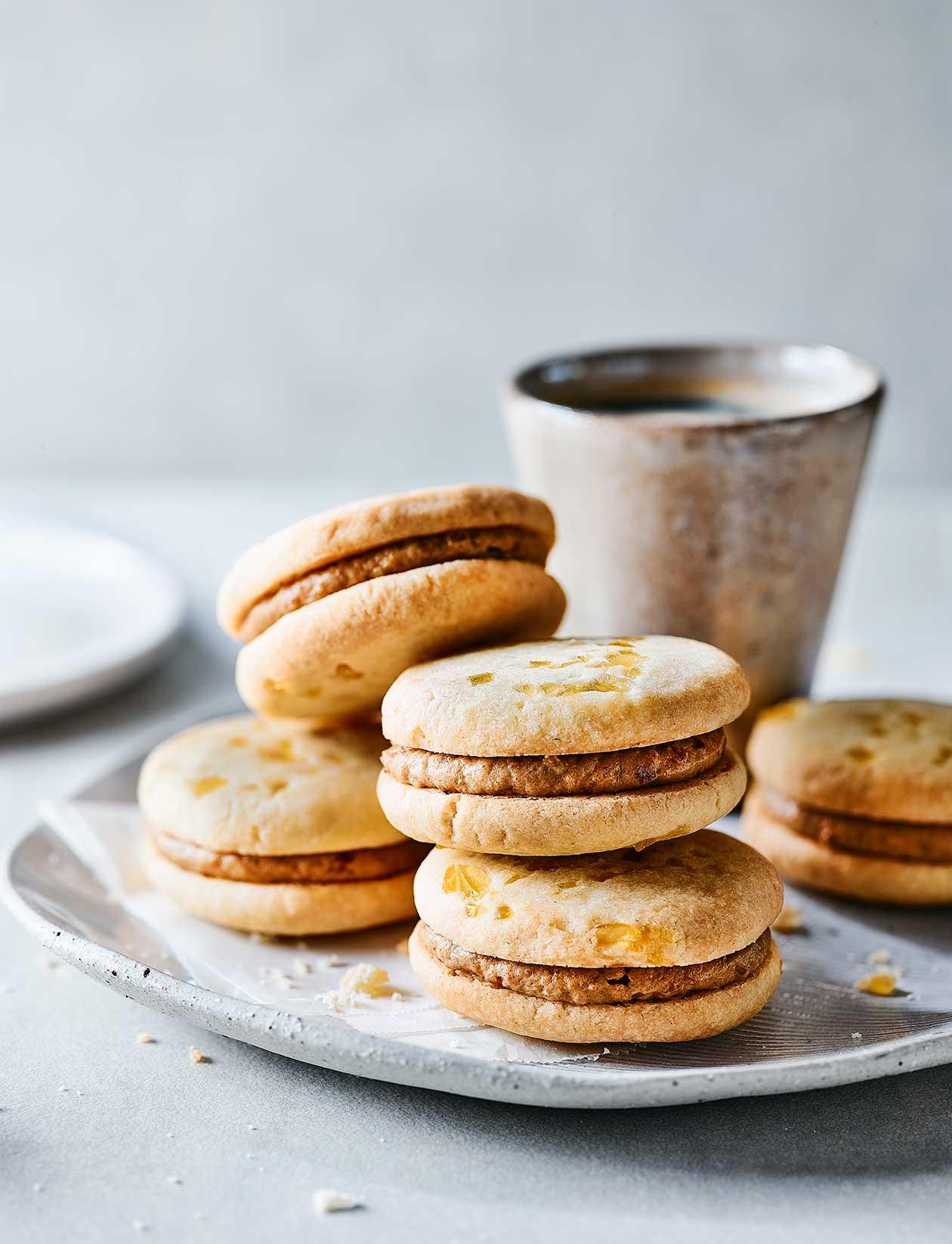 Stem Ginger And Date Biscuits Recipe Sainsbury S Magazine
