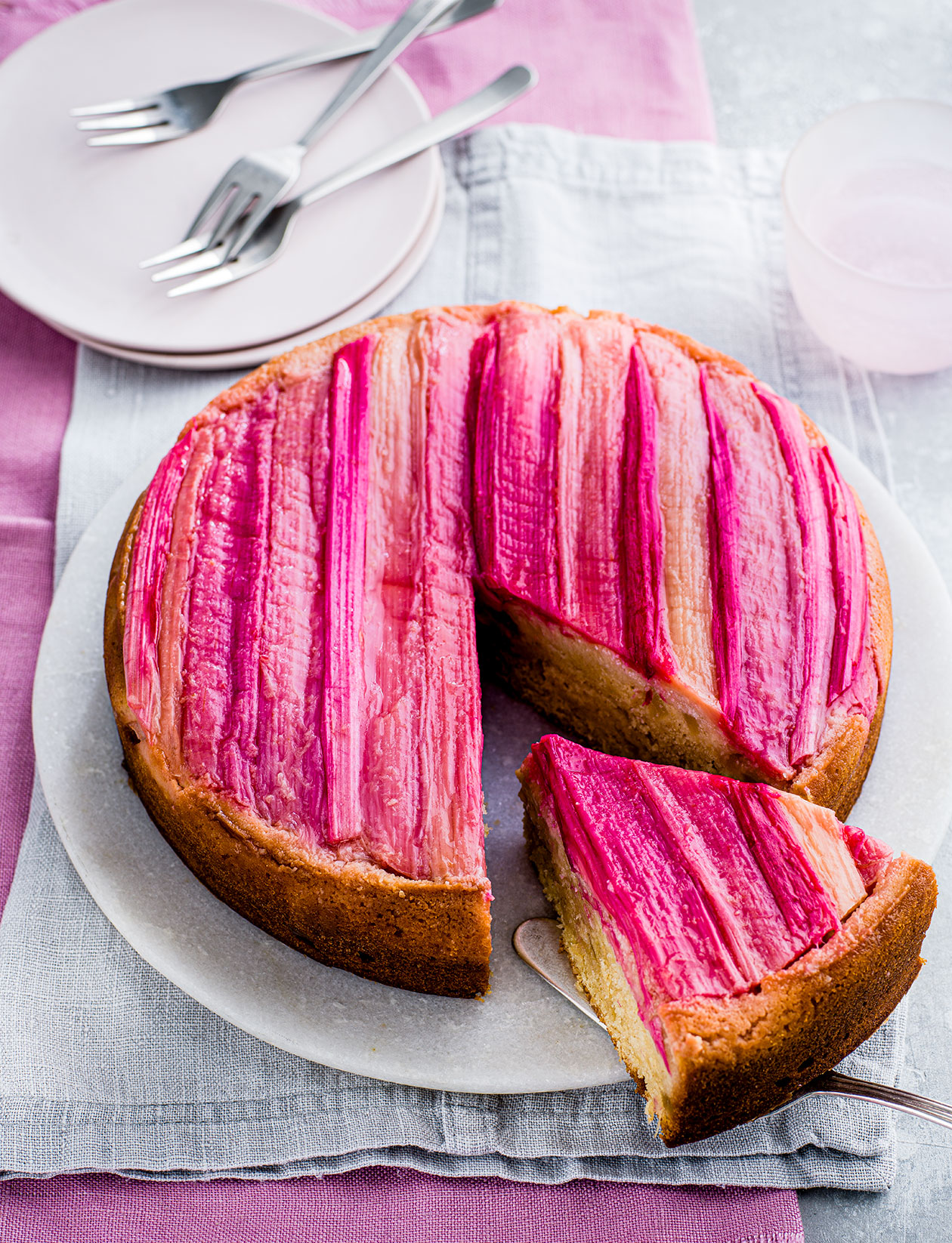 Rhubarb And Ginger Upside Down Cake Recipe Sainsbury S Magazine