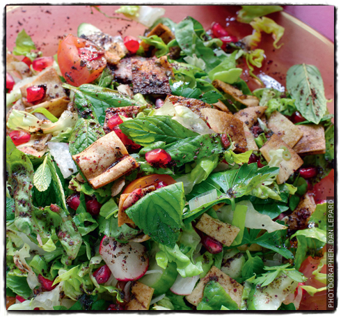 Fattoush with pomegranate molasses dressing sainsbury 39 s for Pomegranate molasses sainsburys