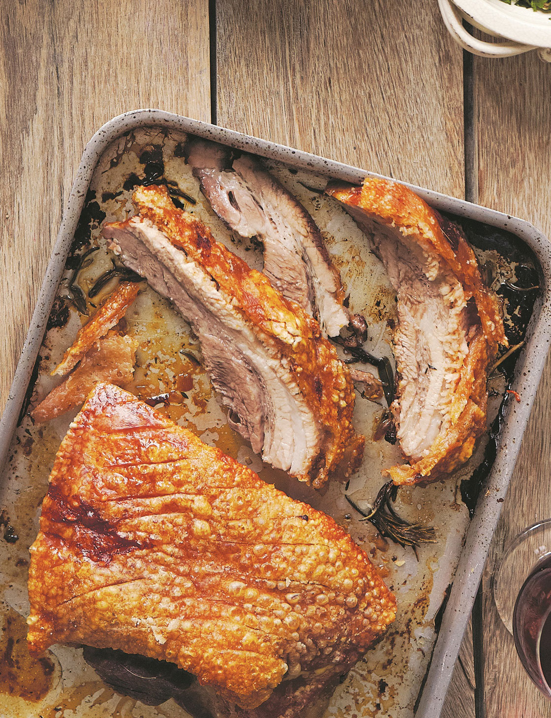 Slow Roasted Pork Belly With Salsa Verde Sainsbury S Magazine
