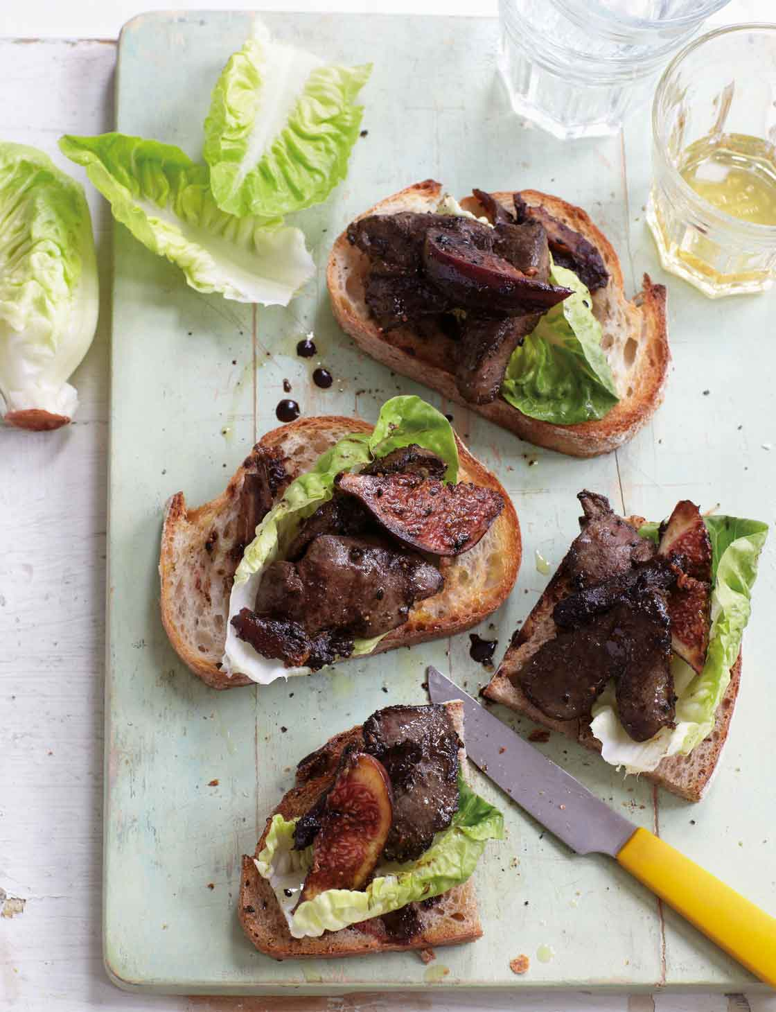 Sticky Chicken Livers On Toast Sainsbury S Magazine