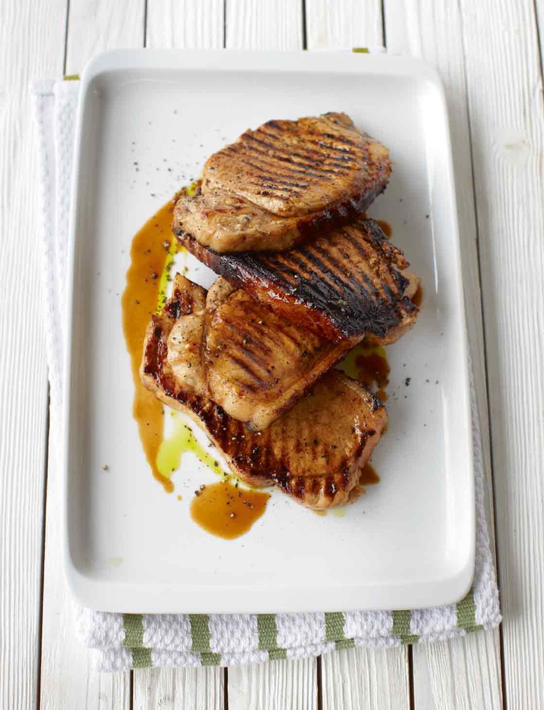 Sticky pork steaks | Sainsbury's Magazine