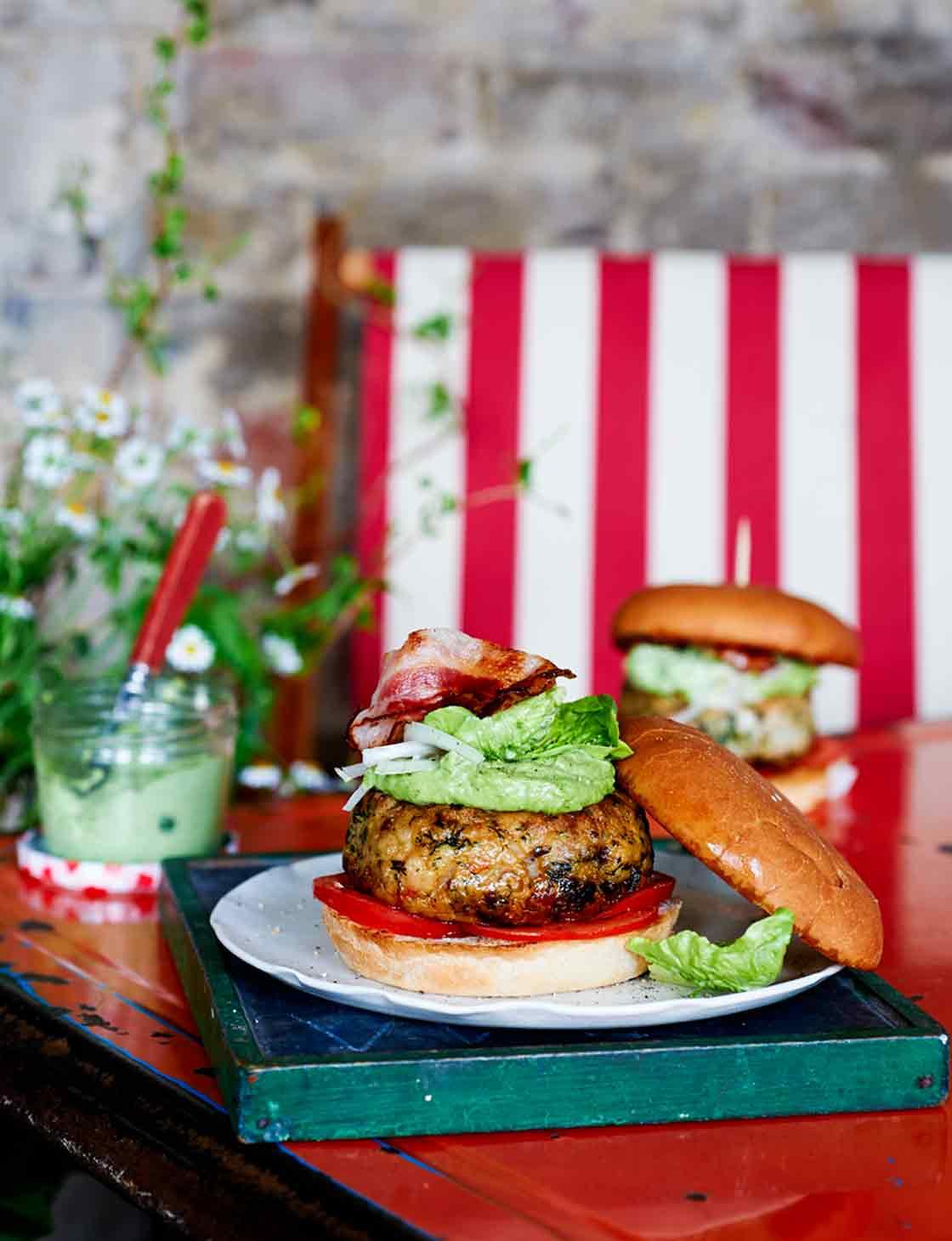 Tom Kerridge S Fish Burgers With Herb Mayonnaise Sainsbury S Magazine