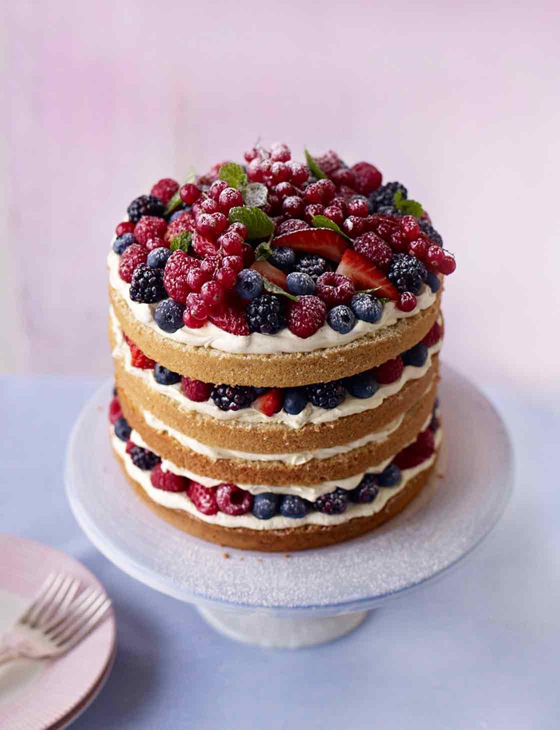 Summer berry layer cake Sainsburys Magazine
