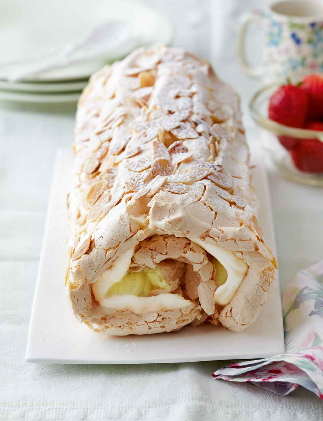 Passion Fruit and Mango Meringue Roulade Recipe recommend
