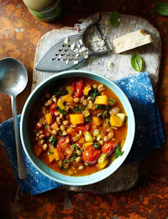 Lentil and vegetable minestrone   Sainsbury's Magazine