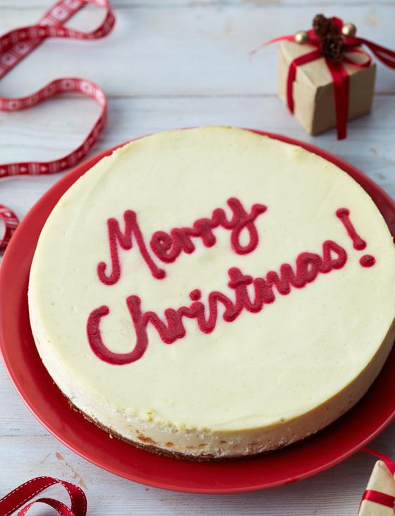 Christmas Cheesecake.Merry Christmas White Chocolate And Cranberry Cheesecake