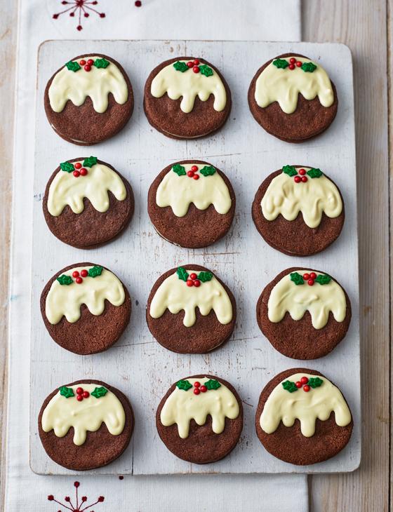 Christmas Pudding Mint Oreos