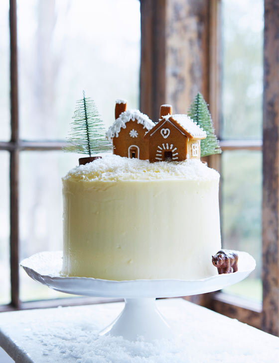 Gingerbread layer cake with maple icing Sainsburys Magazine