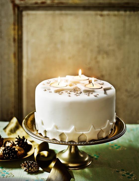 Decoration Idea Starry Night Christmas Cake