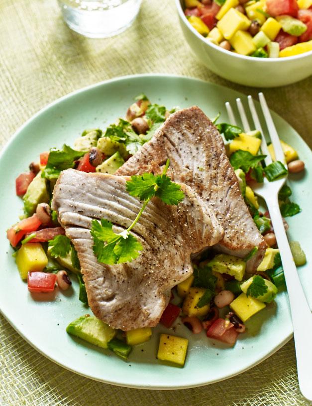 Tuna steak with salsa | Sainsbury's Magazine