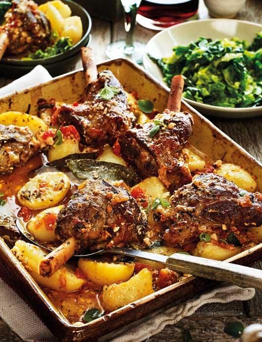 Greek lamb kleftiko with potatoes, oregano and lemon recipe