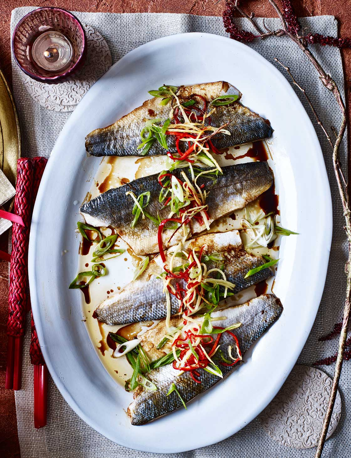Pan Fried Sea Bass With Ginger And Spring Onion Recipe