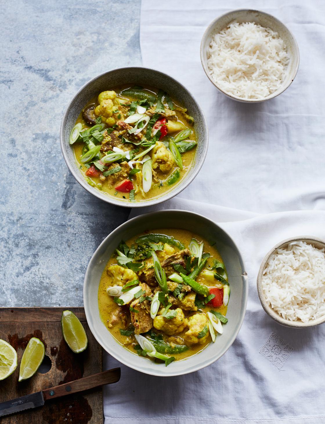 Yellow duck curry recipe | Sainsbury's magazine