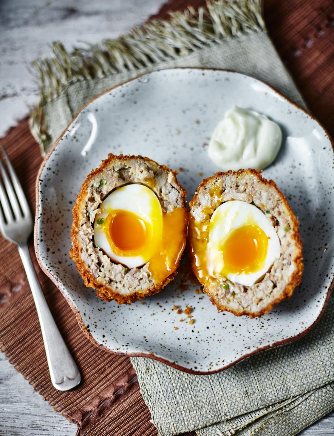 Teriyaki Chicken Scotch Eggs Recipe Sainsbury S Magazine