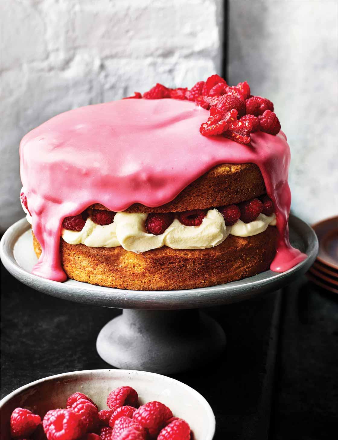 White Chocolate Raspberry Cake Recipe Sainsbury S Magazine