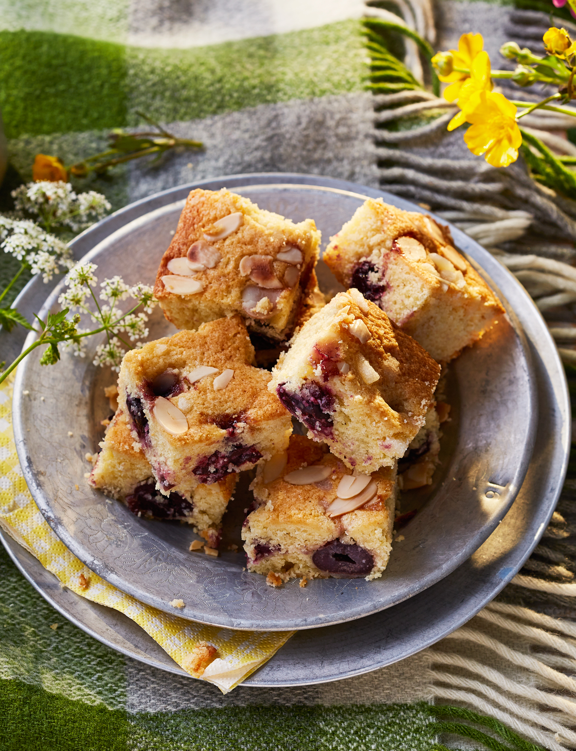 Clotted Cream Cherry Bake Recipe Sainsbury S Magazine