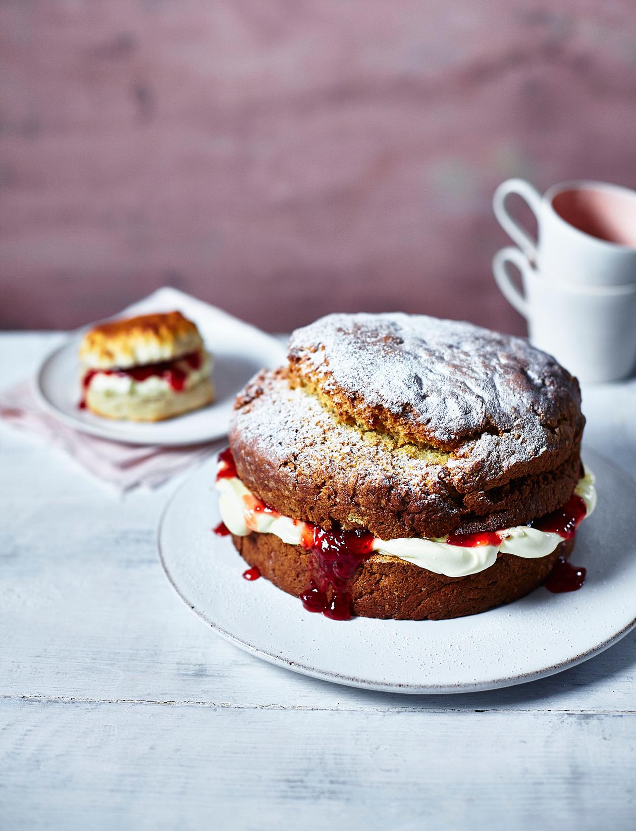 Amazing Giant Scone Cake Recipe Sainsburys Magazine Personalised Birthday Cards Veneteletsinfo