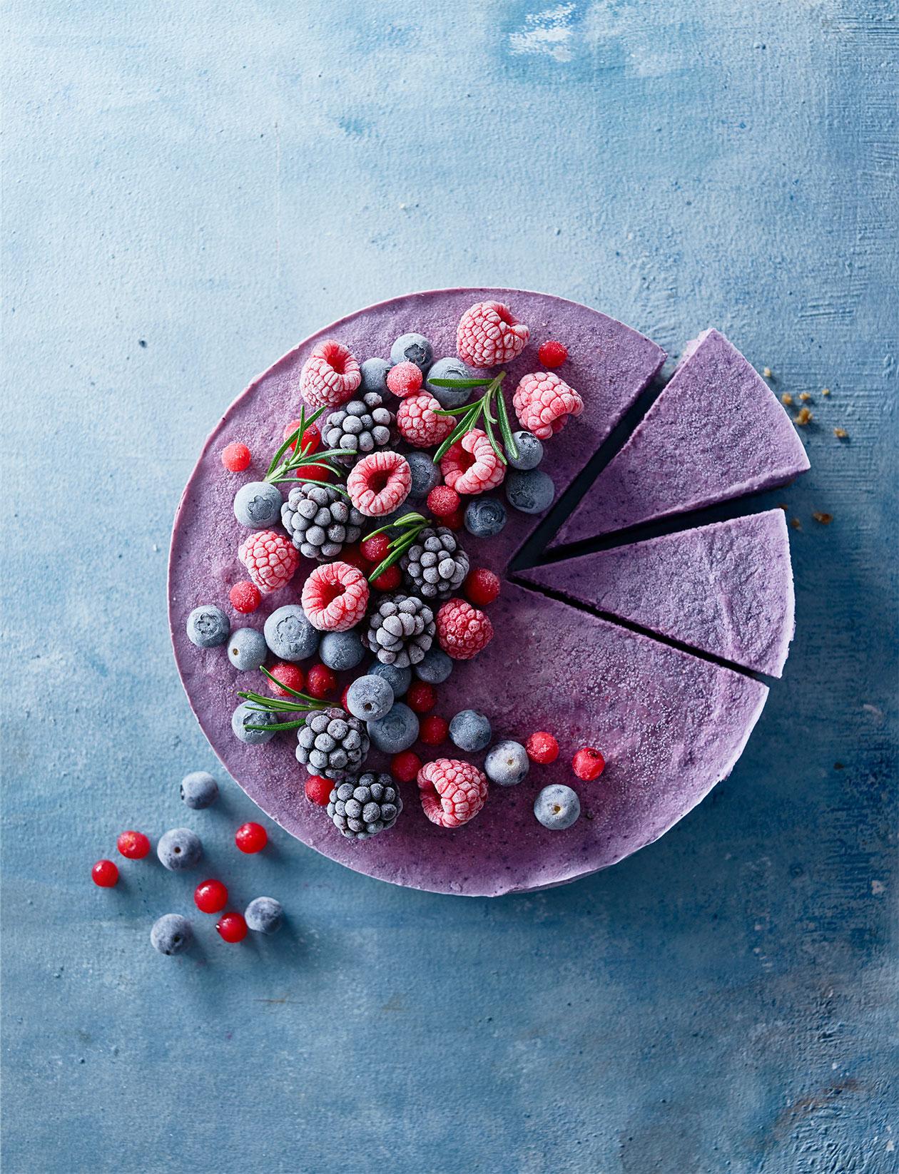 frozen berry and coconut vegan cheesecake recipe sainsbury s magazine