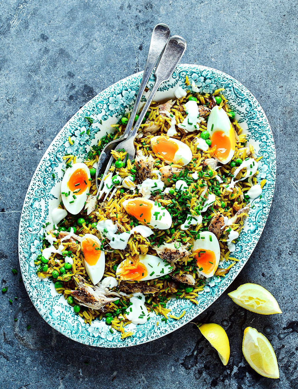 Smoked Mackerel Recipes   Smoked Mackerel Kedgeree Recipe Sainsbury S Magazine
