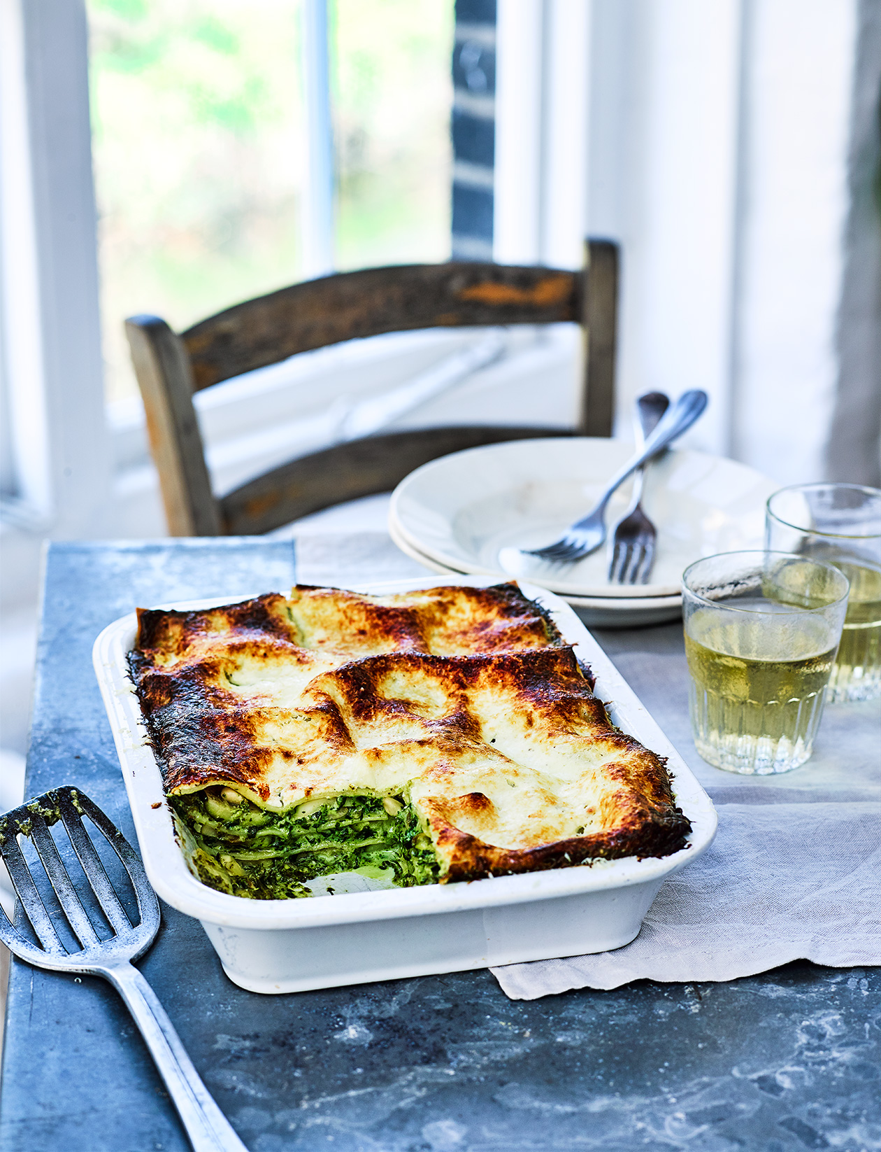 Green Veg Lasagne Recipe Sainsbury S Magazine