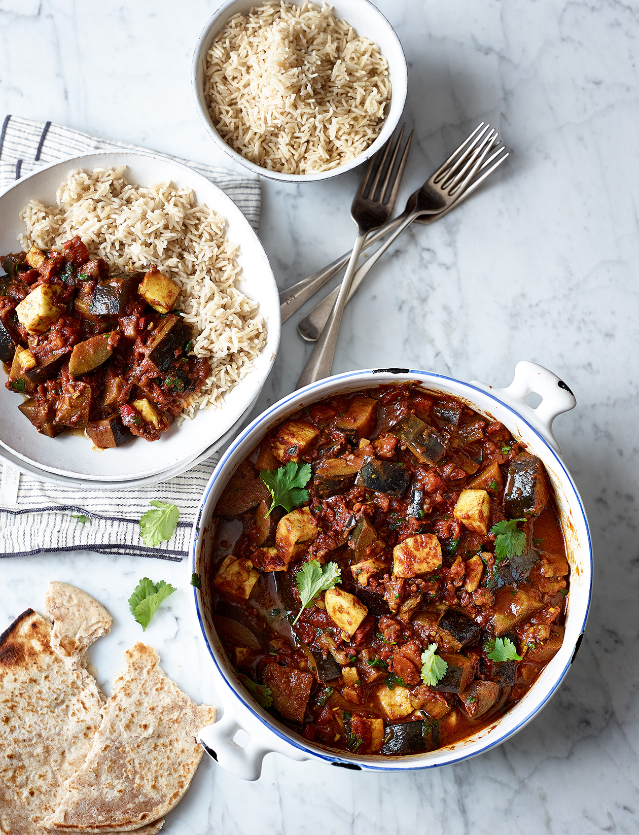 Aubergine And Halloumi Curry Recipe Sainsbury S Magazine