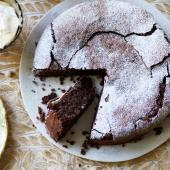 Chocolate and almond torte