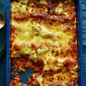 Cheat's sausage lasagne