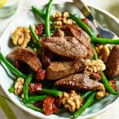 Duck, green beans and walnuts