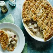 Chicken, Madeira and chestnut pie