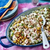 Mexican grilled sweetcorn salad