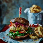Vegan bunless falafel burger