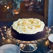 Chocolate and ginger cake with sherry buttercream