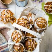 Toffee ginger muffins