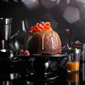 Clementine, date and hazelnut Christmas pudding