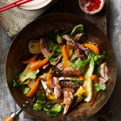 Thai-style duck stir-fry with lime