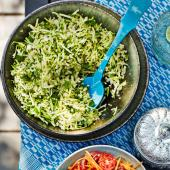 Courgette and bulgur salad