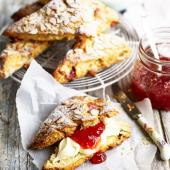 Strawberry Bakewell scones