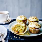 Courgette, orange and hazelnut muffins