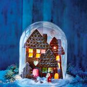 Gingerbread village scene