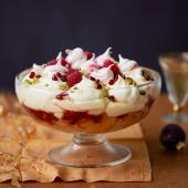 Raspberry and Prosecco trifle