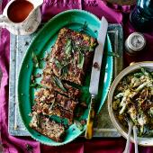 Savoury parsnip and pecan slice