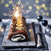 Baileys and chocolate roulade