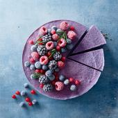 Frozen berry and coconut 'cheesecake'