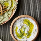 Aubergine and walnut dip