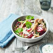 Mackerel and beet bowl