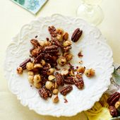 Maple, sea salt and chilli roasted nuts