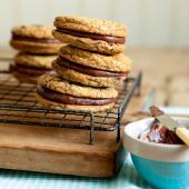 Chocolate orange cookie sandwiches