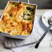 Chicken and watercress lasagne